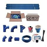 Kit predisposizione impianto aspirapolvere centralizzato (3 punti presa)