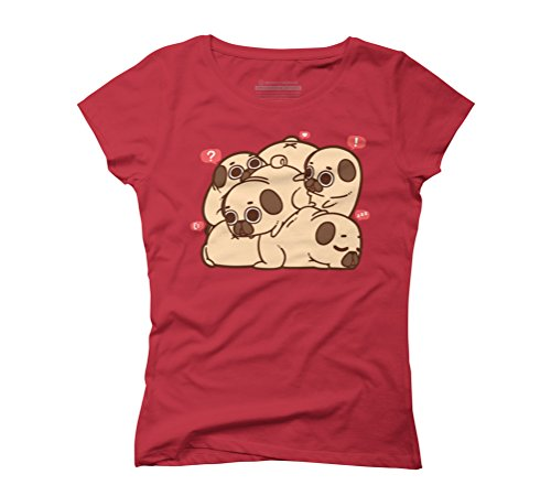 Grumble of Puglies Women's Graphic T-Shirt - Design By Humans Red