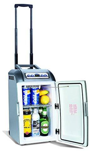 4009 Mini-Kühlschrank auf Rädern mit Teleskopstange 18 L
