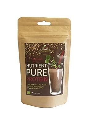 Vegan Protein Shake: Nutrient Pure Plant Based Protein Powder Organic Chocolate & Vanilla
