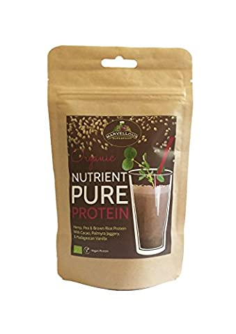 Vegan Protein Shake: Nutrient Pure Plant Based Protein Powder Organic Chocolate & Vanilla (150g)