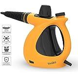 Dampfreiniger, Ymiko Handdampfreiniger inkl. 9-teiligem Zubehör, Handdampfreiniger für Bad u. Badezimmer, Boden, Fenster,Teppiche