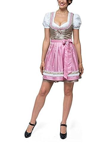 Stockerpoint Damen Dirndl Michelle Rosa (Rose Rose), 42