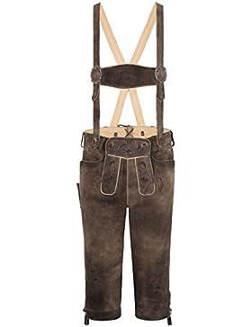 Michaelax-Fashion-Trade Spieth & Wensky - Herren Trachten Lederhose mit Stegträgern, Heinz (310977-1061)