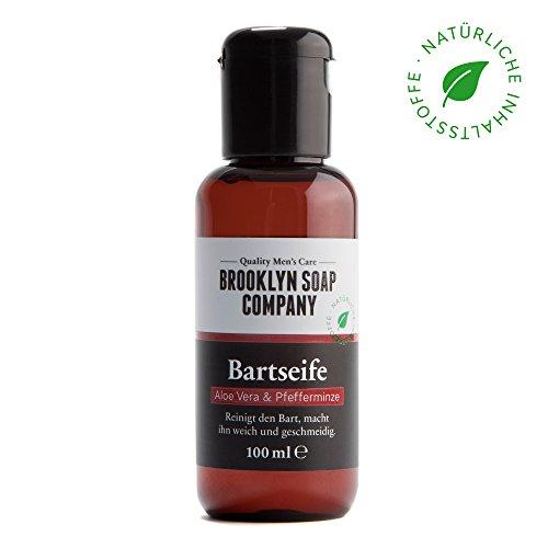 champú y jabón de barba: Beard Wash 100 ml ✔ limpieza y cuidado de la barba - cosméticos naturales de la BROOKLYN SOAP COMPANY ®✔cuidado de barba natural para el hombre moderno y como idea de regalo