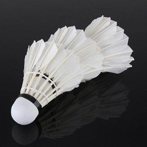 Flyyfree 3 x Training White Goose Feather Shuttlecock Birdies Badminton Ball Game Sport