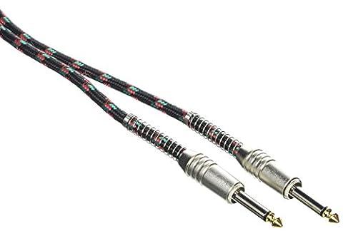 Stagg SGC6VT BK Vintage Tweed Câble d'Instrument 6 m Noir