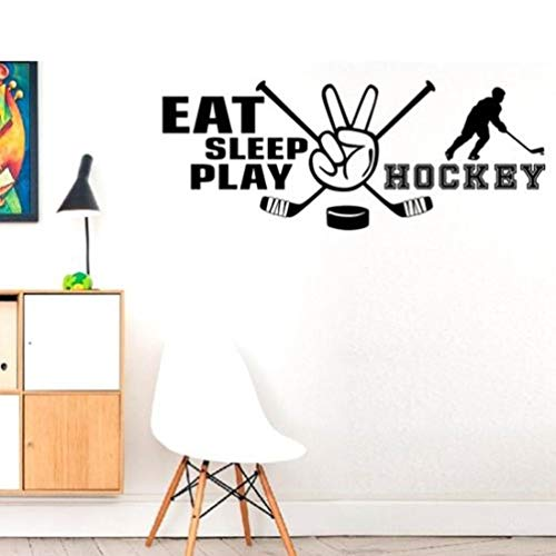 wandaufkleber 3d Wandtattoo Wohnzimmer Ice Hockey Game Players For Nursery Kids Room Boys Hobby Art Decor Gym Sport Room Poster for living room