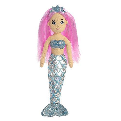 crystal-sea-shimmers-aurora-world-peluche-a-forma-di-sirena-donna-taglia-m-colore-rosa-blu-pesca