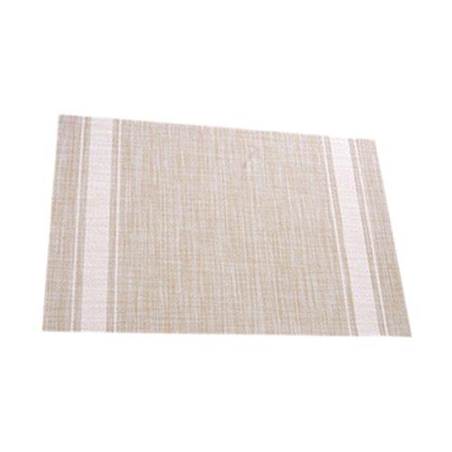 LeisialTM Tampon étanche Tapis de Table Sets de Table Plaque Anti-Chaud Tapis Résistant à la Chaleur pour Dîner de Fête(Beige)