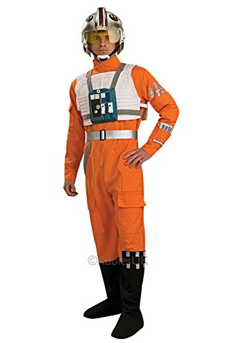 Herren X-Wing Fighter Pilot Rubies Star Wars Overall Uniform Outfit Kostüm - Größe M-L (Rebel Fighter Star Wars Kostüm)