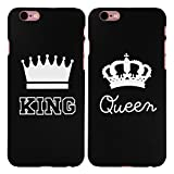 2 x Coque iPhone 6 plus / 6S plus, Cuitan King and Queen Couronne Désign Couples Givré Difficile Anti-Rayures Retour Housse Case Protecteur Back Cover pour Apple iPhone 6 plus / 6S plus (5.5 Inch) - Noir