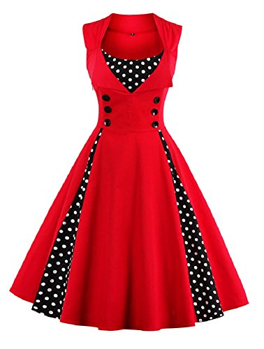 Lacus-UK - Robe - Femme red