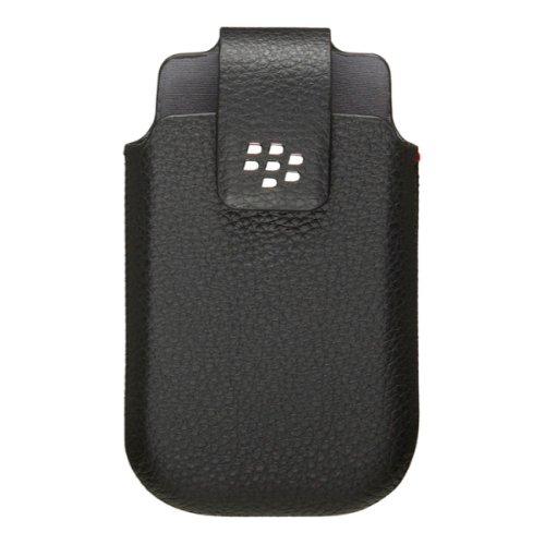 Genuine BlackBerry Nero in pelle girevole per