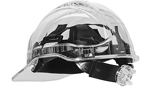 Portwest pv64clr Serie pv64Peak View Ratsche transluzent Hard Hat Helm, Regular, Transparent