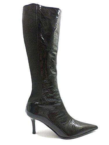 LELLA BALDI 36,5 EU stivali donna nero vernice ZX243