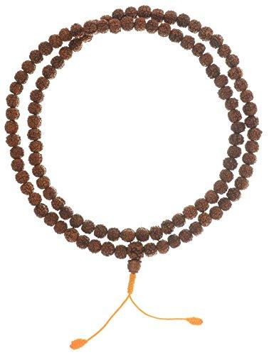 BUDDHAFIGUREN Collier bouddhiste/hindouiste, chaîne de prière - Rudraksha graines 10 mm
