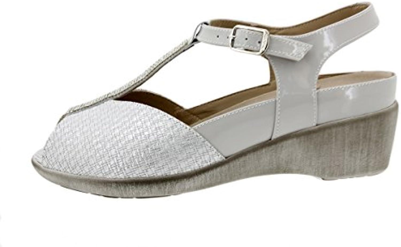 PieSanto Sandalia Plantilla Extraíble Grabado Hielo 180157 Zapato Confort