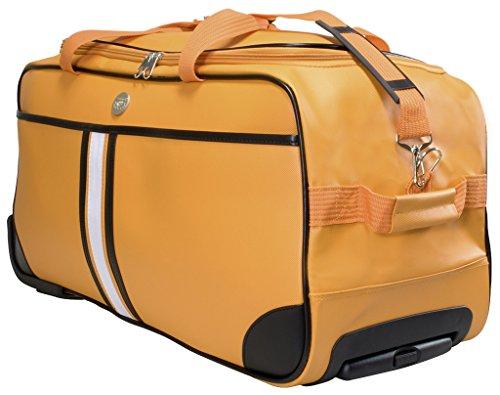 Trolleytasche Weichgepäck ca.70x32x34cm ca.77 Liter Farbe orange Material abwaschbares Tarpaulin Trendyshop365