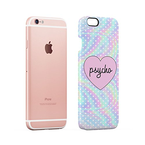 Psycho Heart Tye Dye Rainbow Polka Dots Pattern Custodia Posteriore Sottile In Plastica Rigida Cover Per iPhone 6 & iPhone 6s Slim Fit Hard Case Cover Cute Psycho