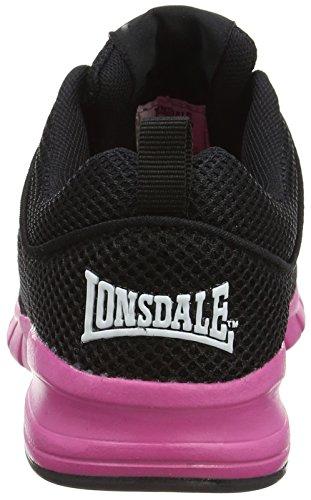 Lonsdale Sivas, Scarpe da Corsa Donna Black (Black/Pink)