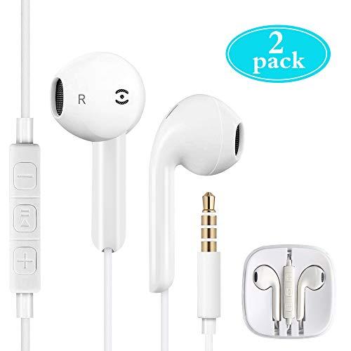 Auriculares in-Ear con micrófono,Nomisty 3,5 mm Auriculares Premium Auriculares estéreo y Auriculares con Aislamiento de Ruido