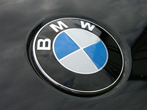 Ersatz Emblem auf der Fronthaube blau-weiß 82 mm logo Aufkleber Plakette Motorhaube Tuning