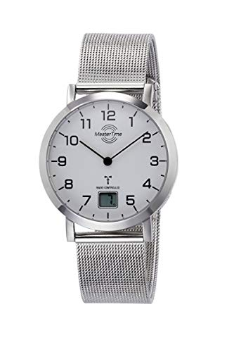 Master Time Funk Quarz Damen Uhr Analog-Digital mit Edelstahl Armband MTLS-10659-90M