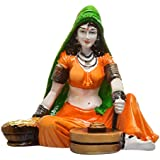 "Clickshop9 Ethnic Village lady Showpiece Decor Party Gifts (Multicolour,6""*4""*6"")"