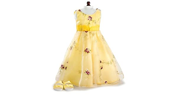 Girlfriends By Carpatina Dolls Red And Yellow Roses Dress & Sandals ~ Fits 18