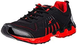 Sparx Mens Black and Red Mesh Running Shoes - 10 UK (SX0193G)