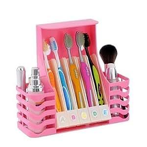 KUKU hang salle table multi-fonction amphibie brosse à dents pour recevoir le rack / tablette , Pink