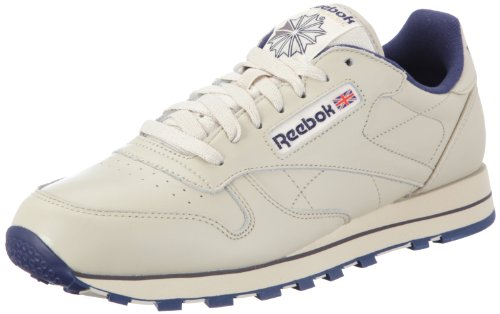 Reebok Classic Leather, Herren Sneakers, Beige (Ecru/Navy), 45