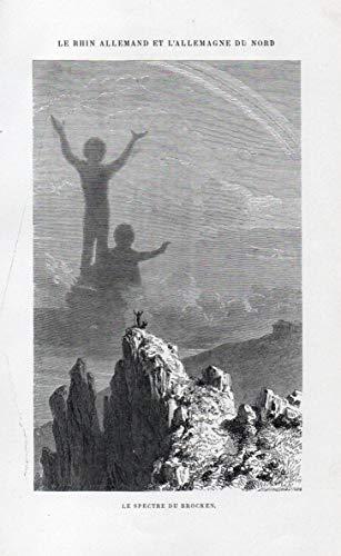 Le Spectre du Brocken - Spectre de Brocken Brockengespenst Brocken spectre Ansicht view Holzstich Holzschnitt woodcut
