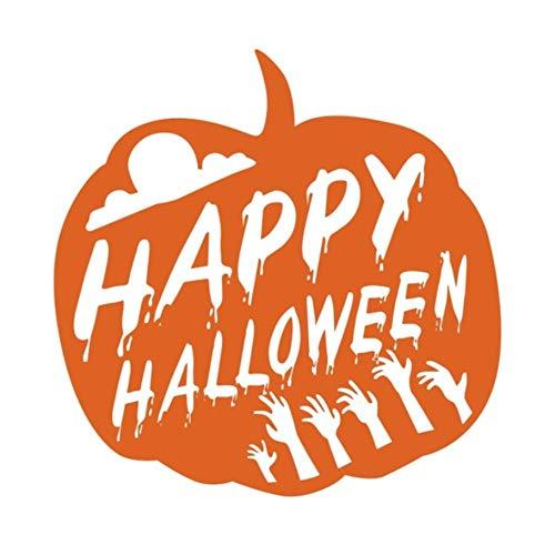 Happy Halloween Kürbis Für Kinderzimmer Halloween Dekoration Hallowmas Festival Shop Glaswanddekor 44X44Cm ()