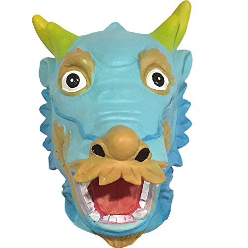 Requisiten Tier Maske Dekoration Chinesische Drachen Maske Cosplay Party Tidy Latex Requisiten Kostüm Ball Perücke (Farbe : A) ()