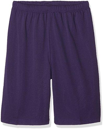 URBAN KIDS Jungen Kids Bball Mesh Shorts, Violett (Purple 195), 140 (Herstellergröße: 10) (Polyester-mesh-shorts Farbe)