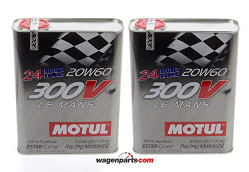 Motul Olio Motore Competizione 300V Le Mans Racing Motor 20W-60, Pack 4 Lit