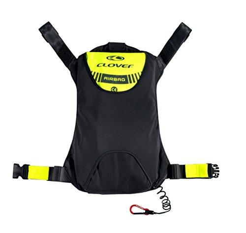 *Clover Motorrad Airbag Kit – Extern, Schwarz/Neongelb, M*