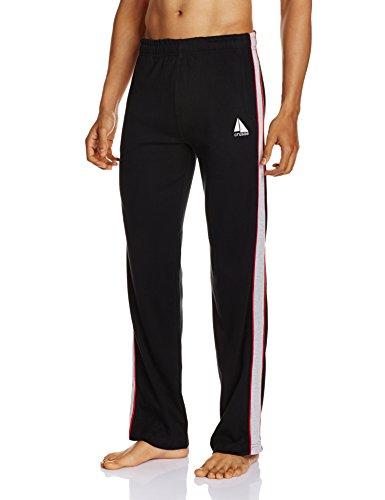 Crusoe Men's Cotton Lounge Pants (4005-Black-XXL)