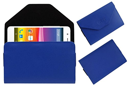 Acm Premium Pouch Case For Micromax Canvas Knight 2 E471 Flip Flap Cover Holder Blue  available at amazon for Rs.179