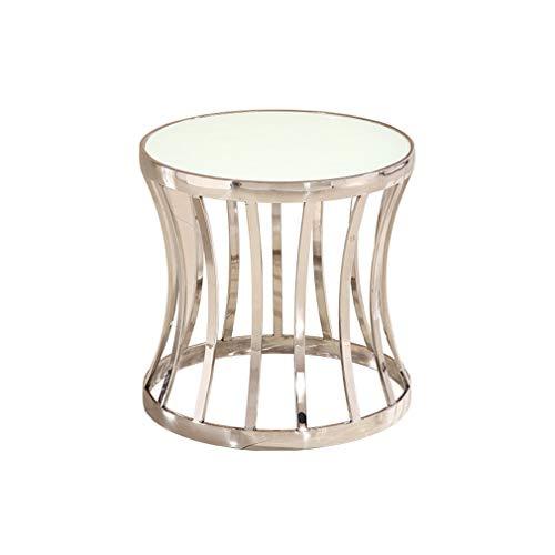 XUE-BAI Modern Coffee Table Living Room Sofa Side Table Glass Desktop Edelstahl Frame Hotel Bar Bedroom Table