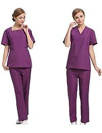 OPPP Ropa médica Trajes de Lavado Enfermeras Trajes de Gran tamaño para Hombres y Mujeres Abrigos