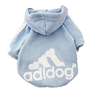 Aisuper Haustier-Pullover, für Hunde und Katzen, Hoodie, für Golden Retriever, französische Bulldogge, Pudel, Mops, Sportmode, cool, für Herbst Winter, warmer Pullover, Jacke (7Farben, Größe XS-9XL)