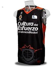 Camiseta del Valencia Basket de la Liga Endesa. 2ª Equipación. Color negro. (XXL)