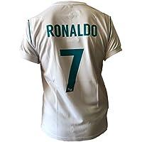 Maglia Real Madrid Cristiano Ronaldo 7 Replica Autorizzata Ufficiale Bambino Adulto 2017-2018, 12 Anni