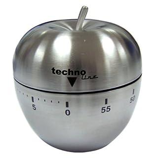 Technoline Temporizador, Metal, Plata, 6.3×6.3×7.1 cm