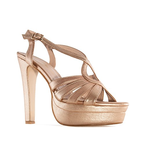Andres Machado - AM5192 - Plateausandalen in Gold AM5192 GOLD