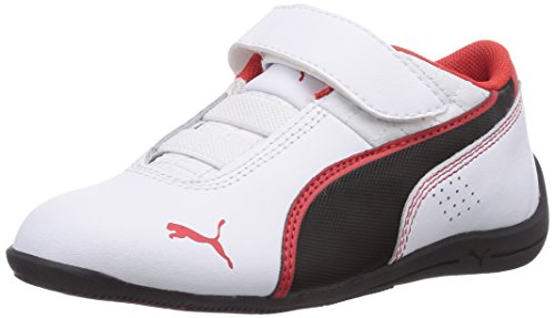 Puma Drift Cat 6 L V, Sneaker Unisex - Bambino Bianco (Bianco (white-black-high risk red 08))
