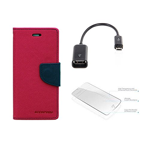 Mercury Goospery Wallet Card Slot Flip Case Cover For SONY XPERIA Z1 With OTG Cable & Tempered Glass  available at amazon for Rs.499